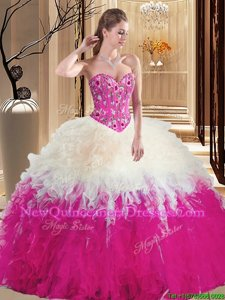 Excellent Floor Length Multi-color Quinceanera Dresses Sleeveless Lace Up